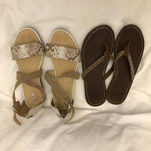 Bundle of Geox & Roxy Sandals!!!